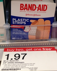 Target: Band-Aid Bandages only...