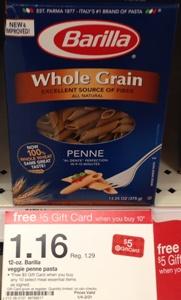 target barilla whole grain