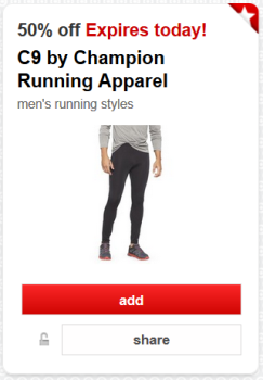 target cartwheel c9 men running apparel