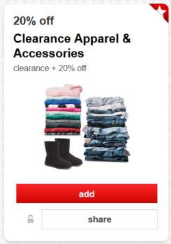 target cartwheel clearance clothes