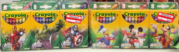 target clearance crayons 70