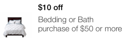 target mobile coupon bedding