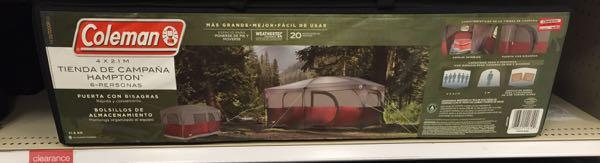 tent 70 off