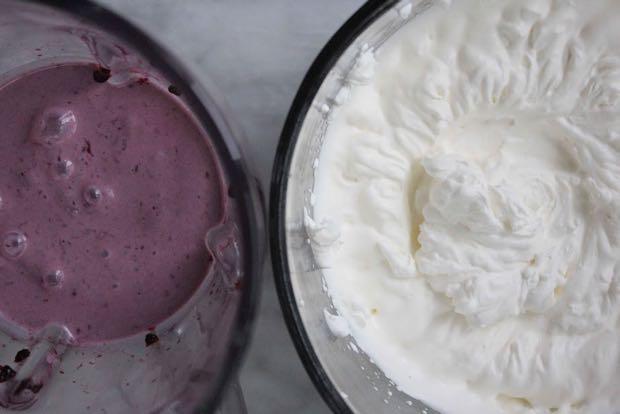 Blackberry ice cream process