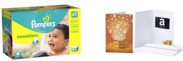 amazon diaper gift card collage