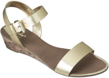 target com gold shoe