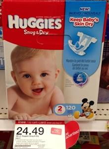 target huggies diapers