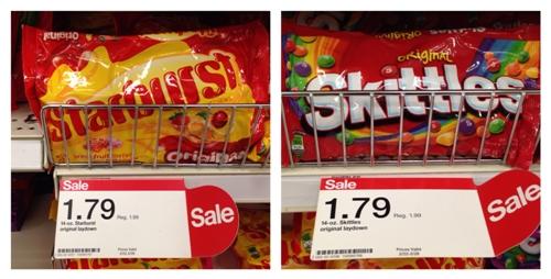 target skittles starburst collage