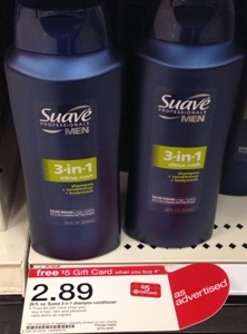 Suave Mens 3-in-1 Shampoo only...