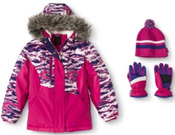 target.com girls jacket hat etc