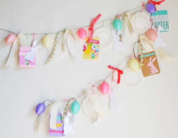 Light Up Easter Egg banner decorated for Easter