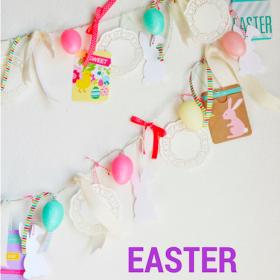 Light Up Easter Egg Banner