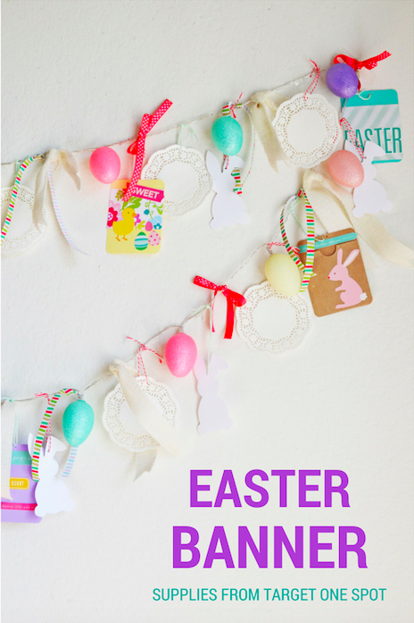 Light up Easter Banner with items from Target One Spot