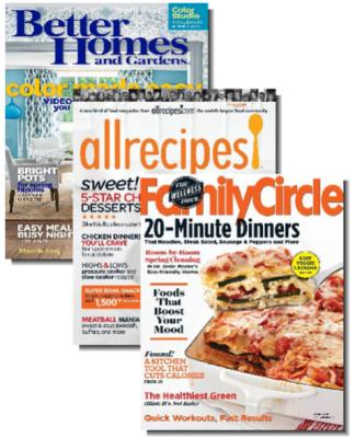 Better Homes Gardens Allrecipes Family Circle Bundle