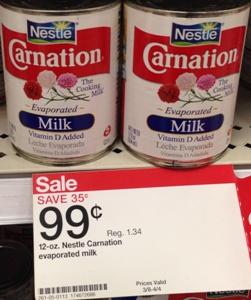 target carnation milk