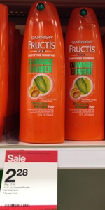 target garnier erase shampoo