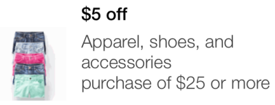 target mobile coupon apparel
