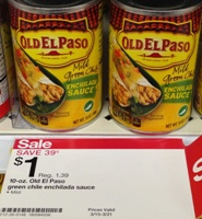 target old el paso sauce sm