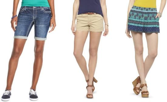 target women shorts collage