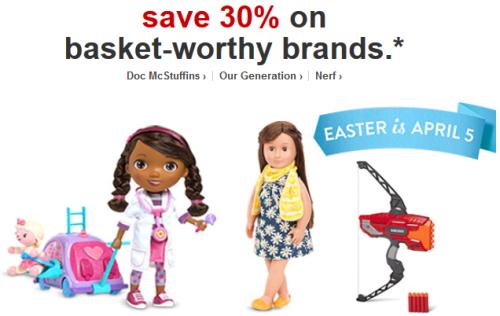 target.com 30 off top toys