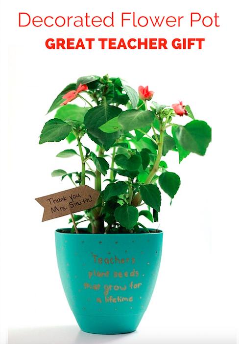 Decorated Flower Pot - Great Teacher Gift