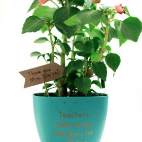 Decorated Flower Pot – Teacher Gift