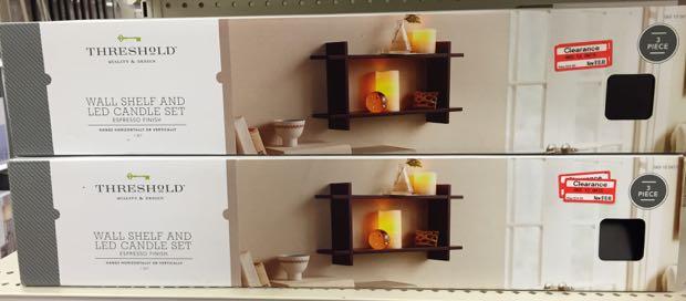 shelf candle