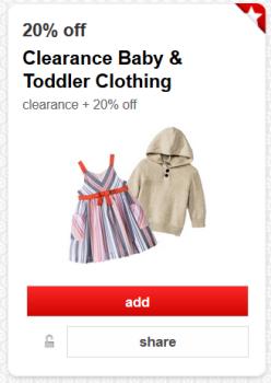 target cartwheel offer toddler baby