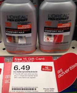 target loreal men shave