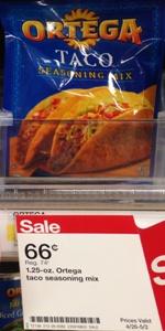 target ortega taco seasoning mix
