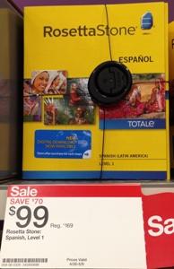 target rosetta stone level 1 box