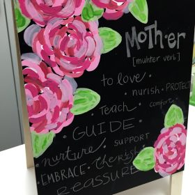 Painted Floral Chalkboard (Great to Personalize for Mother's Day)