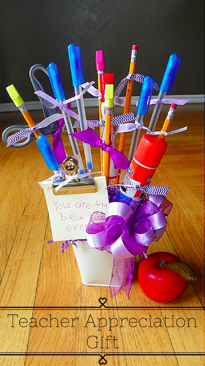 Teacher Gifts with Buckets from Target Dollar Spot
