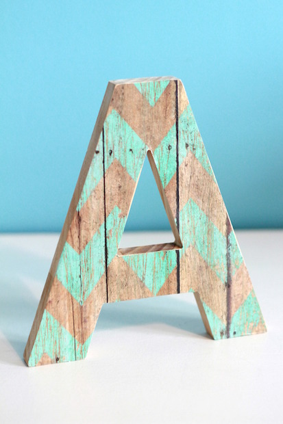 Decoupaged Wooden Letter With Supplies From Target