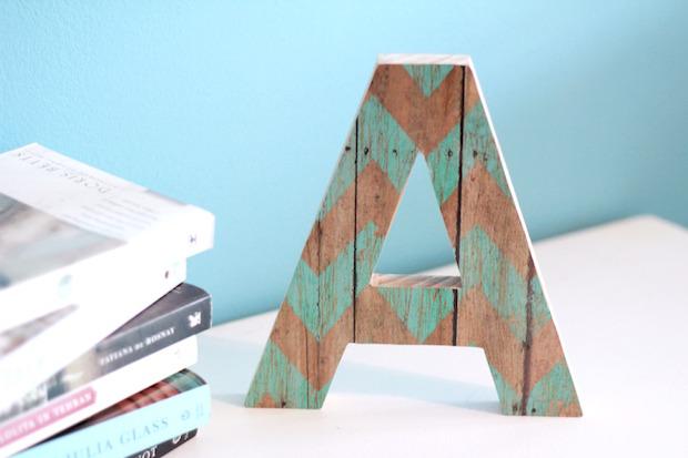 Target DIY Decoupaged Wooden Letter