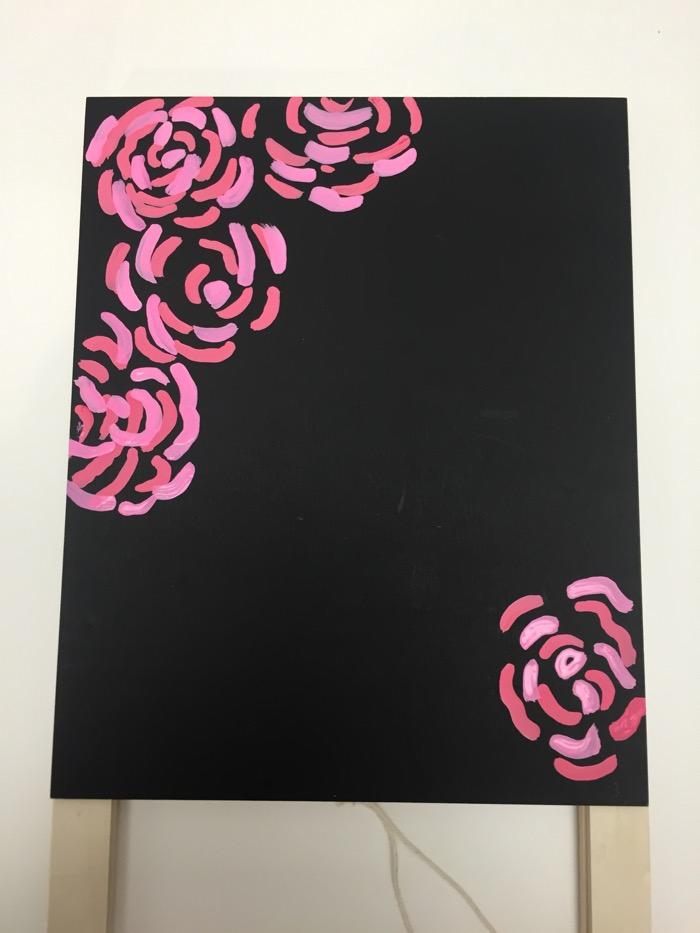 paint flowers step 1