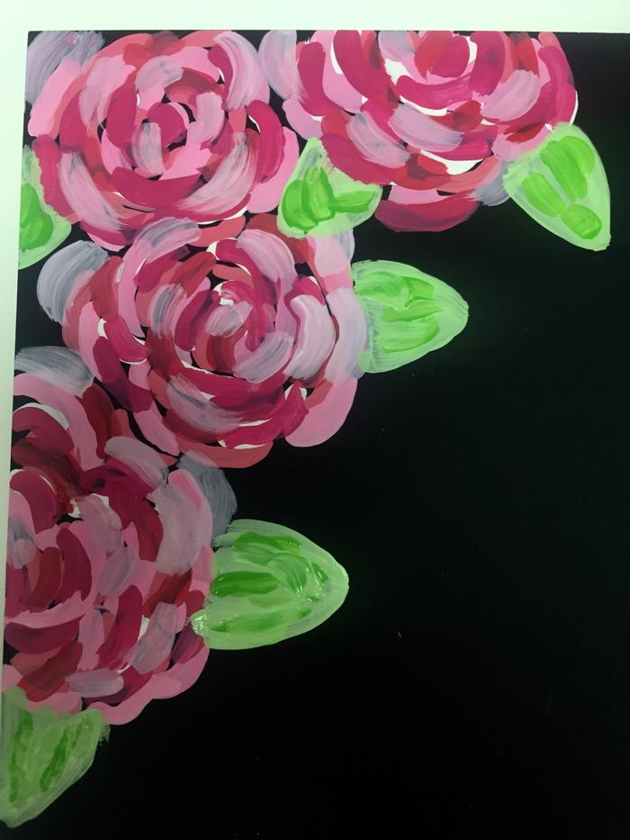 paint flowers step 2
