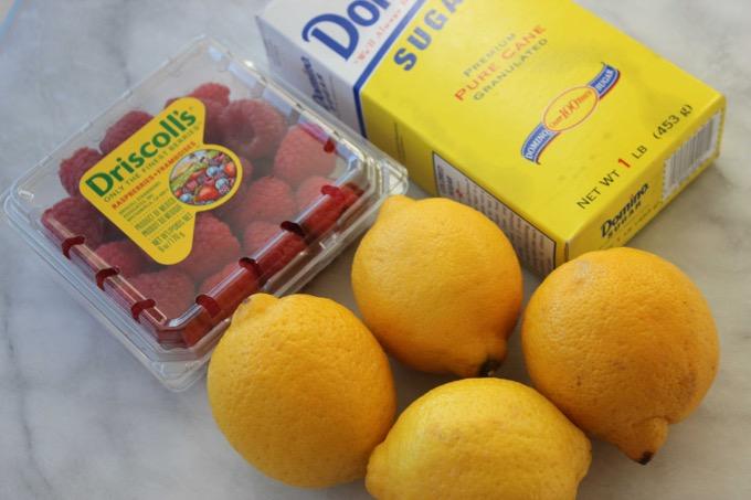 raspberry lemonade slushie ingredients