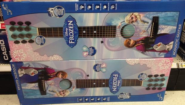 target clear frozen guitar