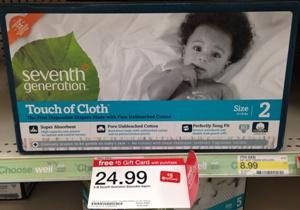 target sevent gen diaper deal