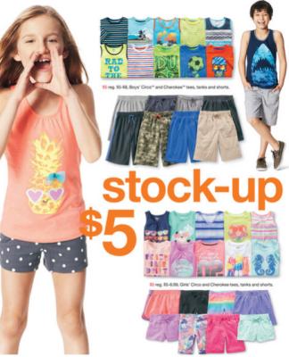 7f7c482937e3c Target: Circo & Cherokee Tees, Tanks & Shorts for Kids only $4.50 ...