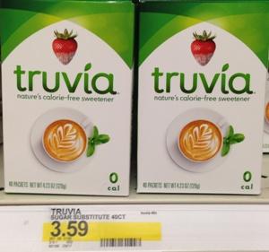 target truvia  box