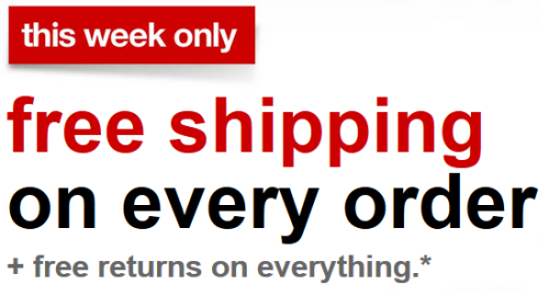 target.com free shipping this week