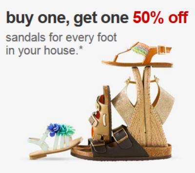 target.com sandal deal