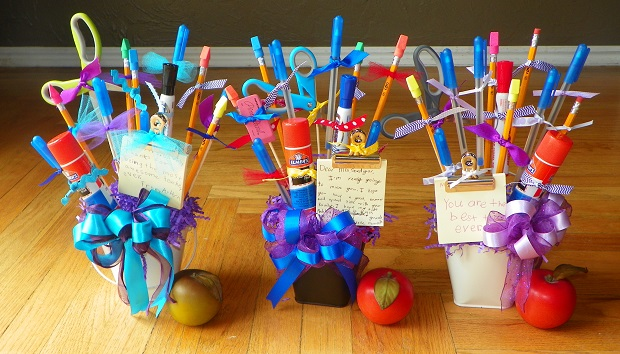 three buckets teacher gifts
