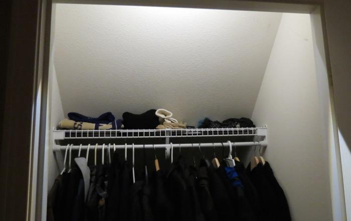 Closet with Mr. Beams light