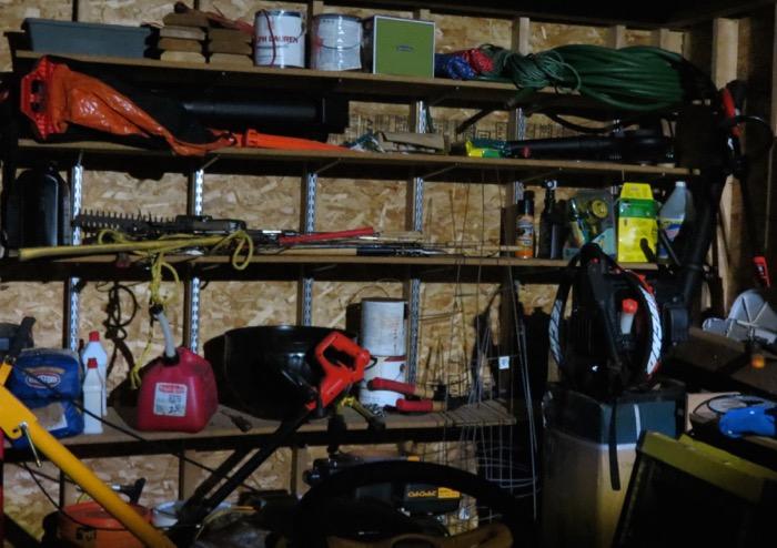Mr Beams light inside shed