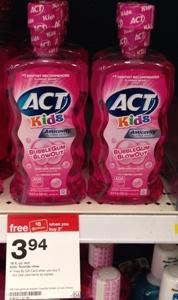 target act mouthwash