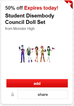 target cartwheel monster high doll set