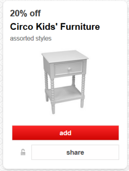 target cartwheel offer circo kids furnture